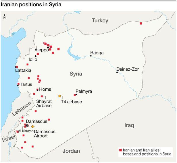 Kaikki Iranin Sotilaalliset Kohteet Syyrian Alueella Iskun